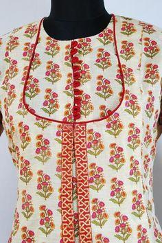 Angrakha Floral Printed Formal Kurti