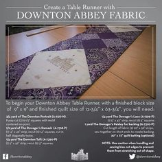 Downton Abby table runner