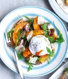 Squash-and-poached-egg-salad