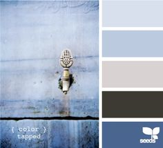Art blue and grey palettes