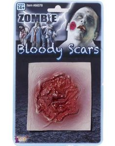 Zombie Festering Sore Scar Bloody Costume Latex Wound: This is more than just makeup, This package includes 1 3-dimensional latex prosthetic that looks like a festering wound. Great on their own, even better with the other zombie costumes and accessories in this store!