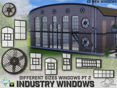 The Sims Resource: Industry Windows pt 2 by BuffSumm • Sims 4 Downloads