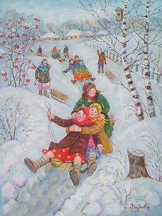 russian winter by drozdova