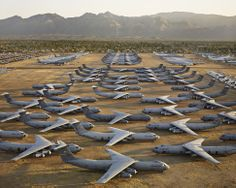 "Tucson (bone yard) - Arizona...the military sends their vintage aircraft to the ""bone yard"".  These aircraft can be stored indefinitly outside because of the dry, hot conditions.....no rusting.  For the aircraft lover, this is the best ""museum"" ever!"