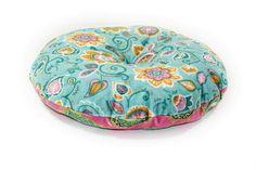 Free round pillow sewing pattern. Round chusion pattern to sew.