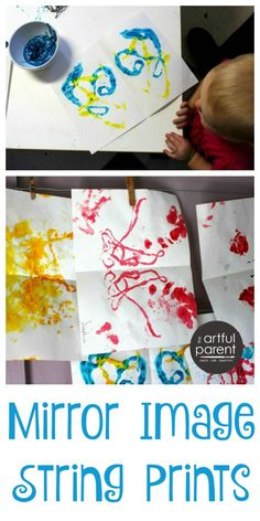 How to Make Mirror Image String Prints with Children