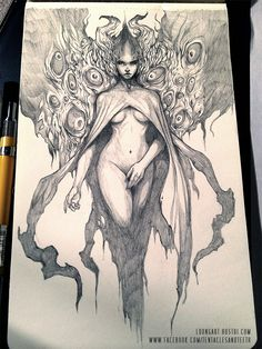 Harbinger by TentaclesandTeeth on DeviantArt Dark Fantasy Art, Dark Art, Character Art, Character Design, Arte Obscura, Erotic Art, Fantasy Characters, Cool Drawings, Art Inspo