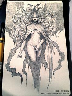 Harbinger by TentaclesandTeeth on DeviantArt Dark Fantasy Art, Dark Art, Drawing Sketches, Cool Drawings, Character Art, Character Design, Arte Obscura, Erotic Art, Art Inspo