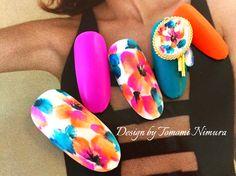 Flower Nail Designs, Colorful Nail Designs, Nail Art Designs, Cute Nails, Pretty Nails, Nails To Go, Finger, Short Square Nails, Diva Nails