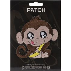 Application Animals Monkey With Banana Patch -- Details can be found by clicking on the image.