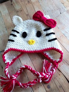 Hello Kitty hat  by TutuFantasia on Etsy