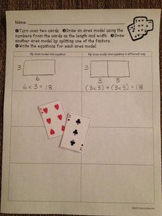 Multiplication game using deck of cards More