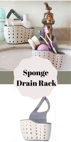 This particular photo is truly a notable design technique. Kitchen Sink Decor, Kitchen Sink Organization, Sink Organizer, Organization Hacks, Kitchen Sponge Holder, Sink Drain, Organizing Your Home, Household Items, Cool Kitchens