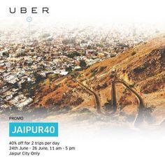 Uber Jaipur Promo Code to Save 40% on Each trip