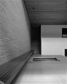 This Spa and Wellness centre in London was designed by Richard Bell Architecture. The minimal spa features a monochrome design that is plentiful in. Contemporary Architecture, Interior Architecture, Architecture Collage, Interior Design, Peace Hotel, Spa Rooms, Architectural Section, Spa Design, Luxury Spa