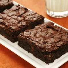 High Fiber Brownies Recipe Desserts with black beans, water, prunes, dark brown sugar, vanilla extract, dark chocolate cocoa powder, oats, whole wheat flour, salt, baking powder, mini chocolate chips