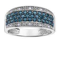 Enhanced Blue Diamond Ring – Dana's Goldsmithing