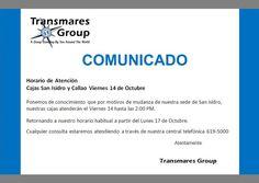 Atención Cajas Viernes 14 Octubre - Transmares