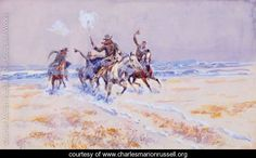 Cowboys on the Plains - Charles Marion Russell - www.charlesmarionrussell.org