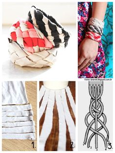 How to braid your own cute fabric bracelets step by step DIY tutorial instructions | How To Instructions