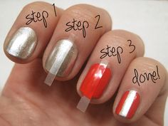 Simple Chrome Nail Art in 4 Steps