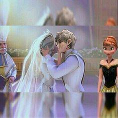 Jack Frost and Queen Elsa get married Disney Princesses And Princes, Disney Princess Frozen, Disney Princess Pictures, Disney Couples, Disney Girls, Disney Fan Art, Disney Love, Princesas Disney Dark, Heros Disney