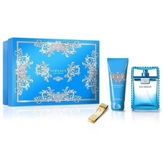 Versace Man Eau Fraiche Christmas Coffret (EDT, 100ml) ($69) ❤ liked on Polyvore featuring beauty products, fragrance, perfume fragrance, versace fragrance, versace, eau de toilette perfume and versace perfume