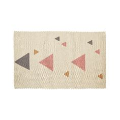 Designed with solid colour background and peppered with a handful of colourful triangles, this rug looks beautiful your baby's nursery or kids bedroom. Olli Ella's Teepee Rug has earned itself a reputation for being iconic yet informal. Made from hundreds of felted balls all hand-sewn together, this rug is a true statement piece. A warm Snow base with Blush Pink, Slate Grey, and Burnt Amber triangles, this fantastic rug is also available in blue, so there's something to suit every little ...