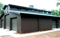 Prefabricated Sheds Custom Made & Designed In The USA Pole Barn Kits, Pole Barn Garage, Rv Garage, Pole Barn House Plans, Pole Barn Homes, Barn Plans, Garage House, Metal Buildings For Sale, Shop Buildings