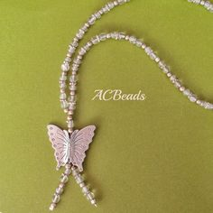 Butterfly Necklace //// Colar Borboleta #ACBEADS
