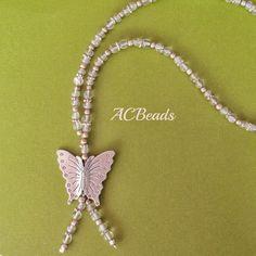 Butterfly Necklace //// Colar Borboleta #ACBEADS