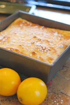 Meyer Lemon Pudding Cake // I might throw some fresh blueberries in the batter and see what happens. - m.b.