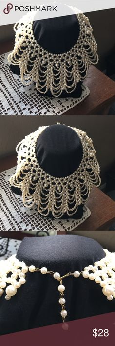 Vintage Faux Pearl Collar necklace gorgeous!. The pictures speak for themselves Jewelry Necklaces