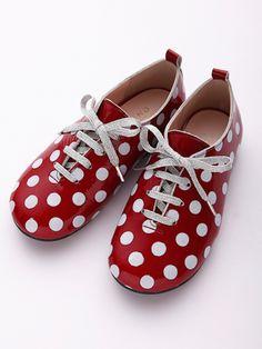 Chaussures rouges à pois Fafa
