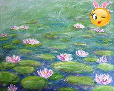 "#manythings #Water #Lilies"" *** Monet painted around 250 paintings inspired by the water lilies from his pond. I passed by Monet's garden a few years ago, and ima..."