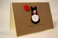 Items similar to Unique handmade Birthday card/ Russian Doll, Matryoshka dressed up as a cat with baloon, / paper cut/ Kraft paper on Etsy Handmade Birthday Cards, Handmade Cards, Handmade Gifts, 3d Paper, Kraft Paper, Etsy Cards, Paper Cutting, Happy Birthday, Cat