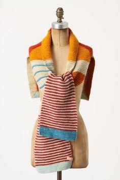 Knitting inspiration - Rennweg Scarf. All hail the almighty power of garter stitch!