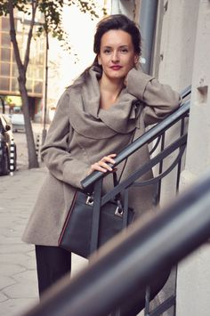 Extravagant Cappuccino Wool Coat / Asymmetric Elegant by shopMyJ, $149.00