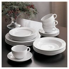 Shop Roulette 16-Piece Dinnerware Set. Designed by Martin Hunt of Queensberry Hunt, Roulette dinnerware has been a top-selling Crate and Barrel favorite since the pattern was introduced in 1992.