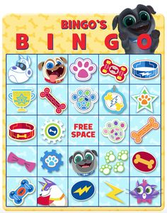 BINGO'S BINGO! Print out this fun game and check out Puppy Dog Pals on Disney Channel & the Disney Junior App! Bow Wow!