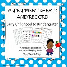 Assessment Sheets and Records for preschool