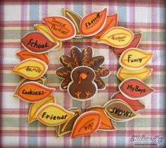 Thanksgiving Wreath Cookies by Melissa Joy Cookies