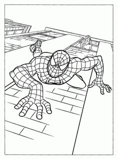 Spiderman Printable Coloring Pages, good example of line