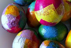 Tissue Paper Easter Egg Craft • Capturing Parenthood