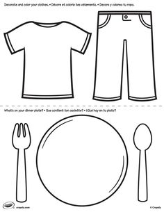 Clothes Coloring Pages Cool pre k worksheets for children