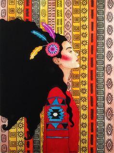 Por amor al arte: Hülya Özdemir Art And Illustration, Illustrations, Painting Inspiration, Art Inspo, Instalation Art, Kunst Inspo, Portrait Art, Portraits, Collage Art