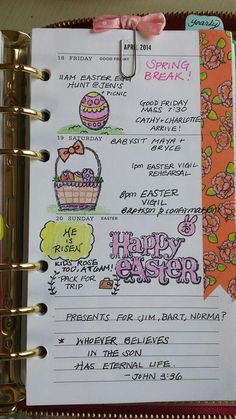 Found at fb : Planning for easter