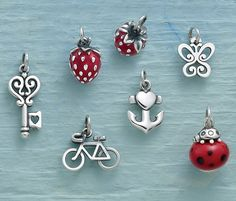 Browse a wide selection of gold and sterling silver charms. James Avery charms go well with charm bracelets, dangle rings and our new charm necklaces. Avery Jewelry, Kids Jewelry, Locket Charms, Lockets, Create Your Own Adventure, New Charmed, James Avery, Spring Collection, Belly Button Rings