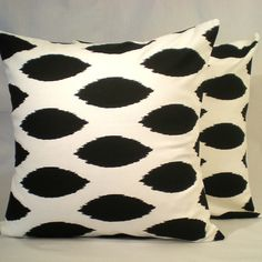 Great two for one price on Black and White cotton pillows