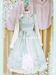 Classic Floral Embroidery Rococo Lolita Dress